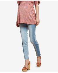 a0d45351a6730 Jessica Simpson - Maternity Colorblocked Skinny Jeans - Lyst