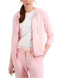 Style & Co. Zip Hoodie Sweatshirt, Created For Macy's - Pink