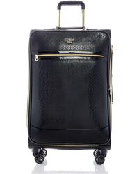 """Guess Fashion Travel Barlow 24"""" Softside Check-in Spinner - Black"""