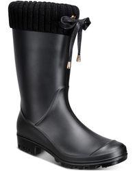 Charter Club Camylla Rain Boots, Created For Macy's - Black