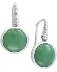 Effy Collection | Jade (12mm) Drop Earrings In Sterling Silver | Lyst