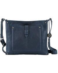 The Sak Heritage Leather Crossbody - Blue