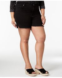 Seven7 - Seven7 Trendy Plus Size Studded Denim Shorts - Lyst