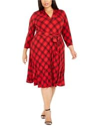 Charter Club - Plus Size Plaid V-neck Dress, Created For Macy's - Lyst