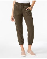 Style & Co. - Petite Cropped Jogger Trousers, Created For Macy's - Lyst