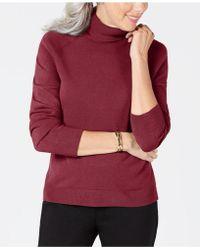 Karen Scott Turtleneck Sweater, Created For Macy's - Red
