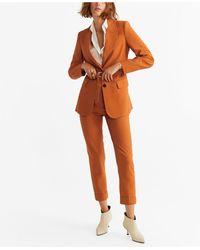 Mango Belt Suit Blazer - Orange