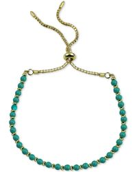 Argento Vivo Beaded Bolo Bracelet In Gold-plated Sterling Silver - Metallic