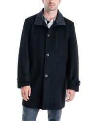 London Fog Clark Classic-fit Top Coat - Black