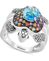 Effy Collection - Multi-gemstone Turtle Ring (3-3/8 Ct. T.w.) In Sterling Silver - Lyst