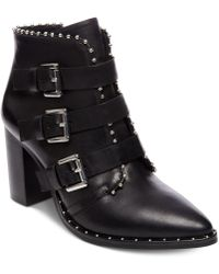Steve Madden - Humble Buckle Leather Booties - Lyst
