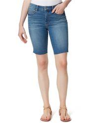 Jessica Simpson Adore Slim-fit Bermuda Jean Shorts - Blue