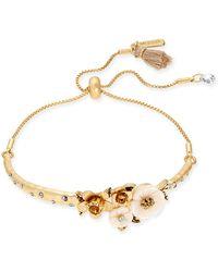 Lonna & Lilly - Gold-tone Flower Slider Bracelet - Lyst