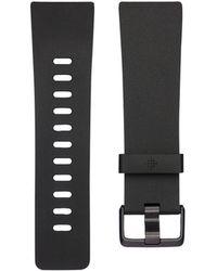 Fitbit - Versatm Classic Black Elastomer Accessory Band - Lyst