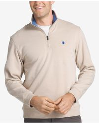 Izod | Men's Advantage Stretch Quarter-zip Sweater | Lyst