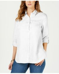 Charter Club - Linen Button-front Shirt, Created For Macy's - Lyst