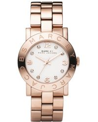 Marc By Marc Jacobs Watch, Women's Amy Rose Gold Ion Plated Stainless Steel Bracelet Mbm3077 - Multicolor