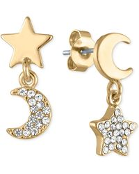 RACHEL Rachel Roy - Gold-tone Crystal Star & Moon Drop Earrings - Lyst