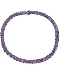 Macy's - Amethyst (20 Ct. T.w.) Statement Necklace In Sterling Silver - Lyst