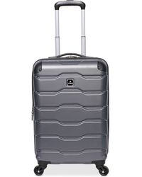 "Revo Tag Matrix 2 20"" Hardside Expandable Carry-on Spinner Suitcase - Grey"