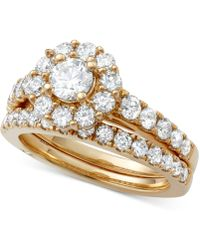 Marchesa - Certified Diamond Bridal Set (2 Ct. T.w.) In 18k Gold, White Gold Or Rose Gold, Created For Macy's - Lyst