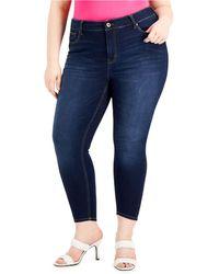 Celebrity Pink Trendy Petite Plus Size Skinny Jeans - Blue