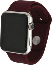 Olivia Pratt Solid Silicone Band For Apple Watch 38mm - Red