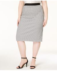 Alfani - Plus Size Textured Pencil Skirt, Created For Macy's - Lyst