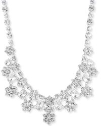 """Givenchy - Silver-tone Crystal Statement Necklace, 16"""" + 3"""" Extender - Lyst"""