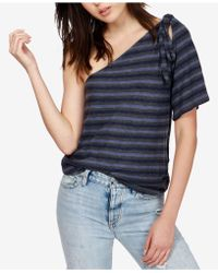 Lucky Brand - Striped One-shoulder Top - Lyst