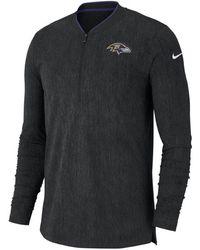 Nike Baltimore Ravens Coaches Quarter-zip Pullover - Black