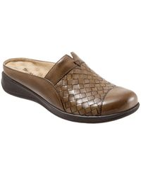 Softwalk San Marcos Woven Slip-on Mules - Brown