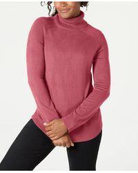 Karen Scott Turtleneck Sweater, Created For Macy's - Pink