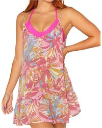 Hurley Palm Paradise Mini Dress Cover-up - Multicolour