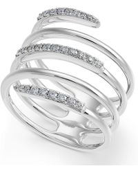 Macy's - Diamond Coil Statement Ring (1/3 Ct. T.w.) In 14k White Gold - Lyst