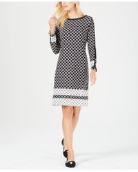 Charter Club - Printed Button-trim Shift Dress, Created For Macy's - Lyst