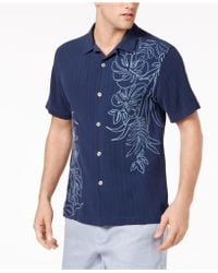 Tommy Bahama - Playa Palms Embroidered Floral Silk Camp Shirt - Lyst