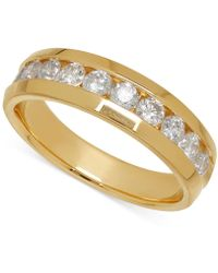Macy's - Men's Diamond Band In 14k Yellow Gold (1 Ct. T.w.) - Lyst