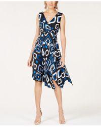 INC International Concepts - I.n.c. Printed Asymmetrical Dress, Created For Macy's - Lyst