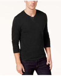 Alfani - Leo Split Crewneck Shirt - Lyst
