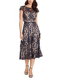 Xscape Floral-lace Midi Dress - Black