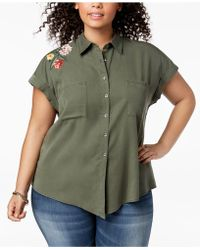 Style & Co. - Plus Size Embroidered Shirt, Created For Macy's - Lyst