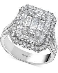 Effy Effy® Diamond Cluster Statement Ring (2 Ct. T.w.) In 14k White Gold Or Yellow Gold - Metallic