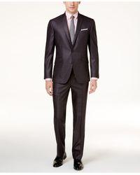 Kenneth Cole Reaction Ready Flex Basketweave Slim-fit Suit - Multicolor