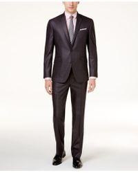 Kenneth Cole Reaction - Men's Slim-fit Gunmetal Basketweave Suit - Lyst