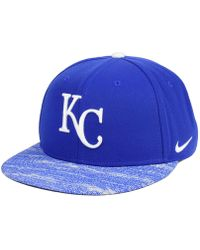 f4fa58f49752b Nike - Kansas City Royals Reverse New Day Snapback Cap - Lyst