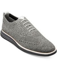 Cole Haan Original Grand Stitchlite Wool Oxfords - Grey