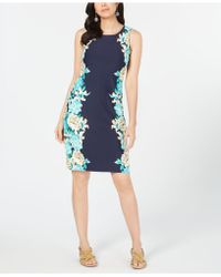 Charter Club - Petite Floral-print Shift Dress, Created For Macy's - Lyst
