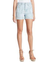 Jessica Simpson Infinite Frayed Denim Shorts - Blue