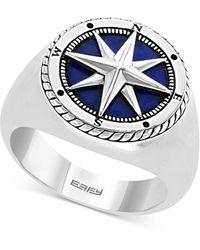 Effy Lapis Lazuli Compass Ring In Sterling Silver - Metallic